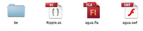 Disposição dos arquivos